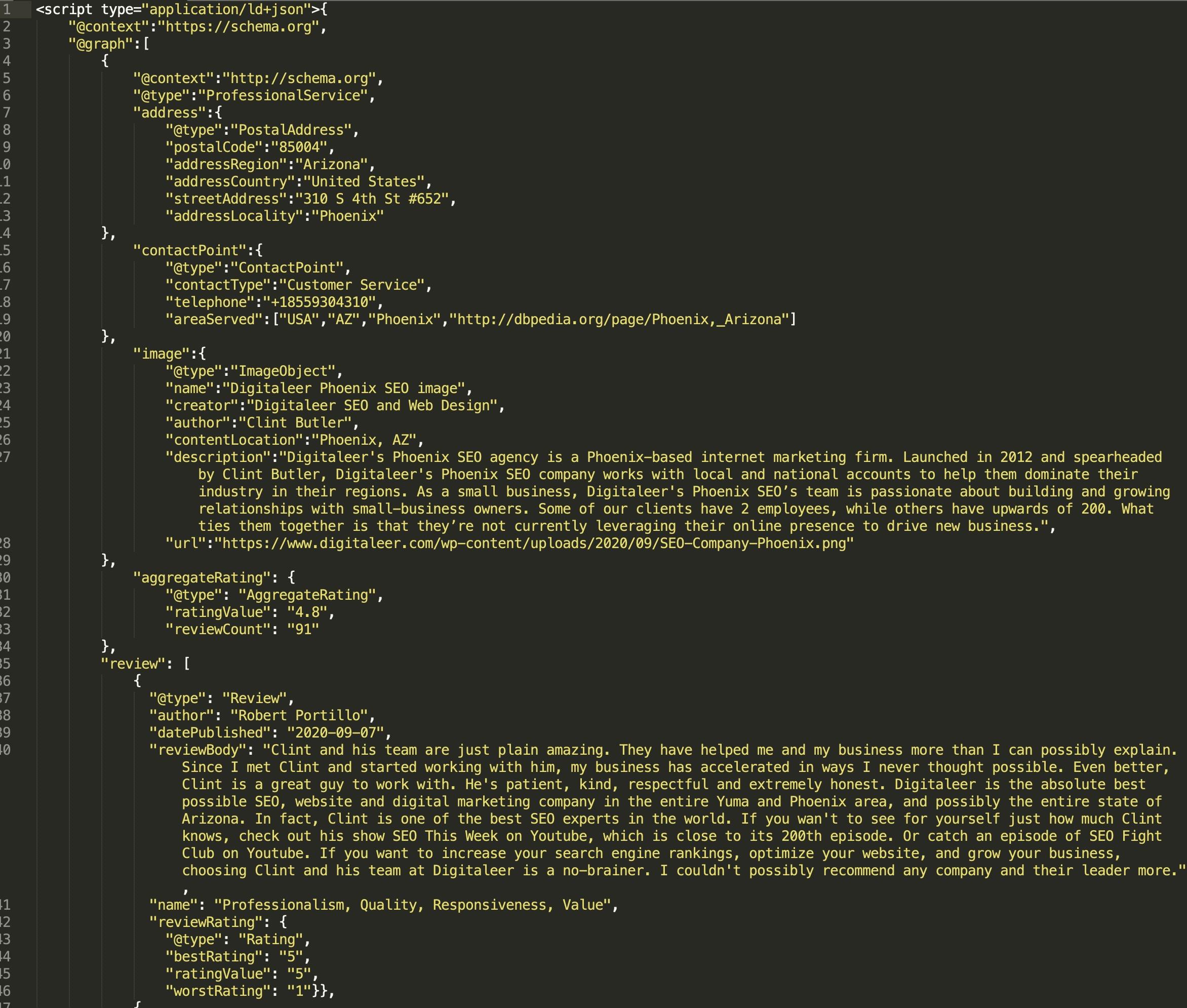 schema template example